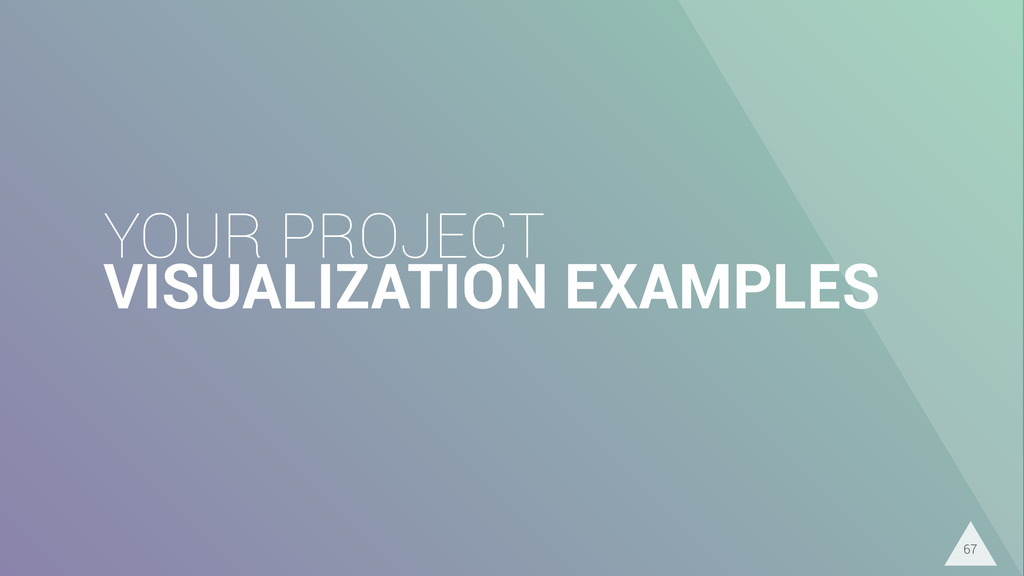 YOUR PROJECT VISUALIZATION EXAMPLES 67