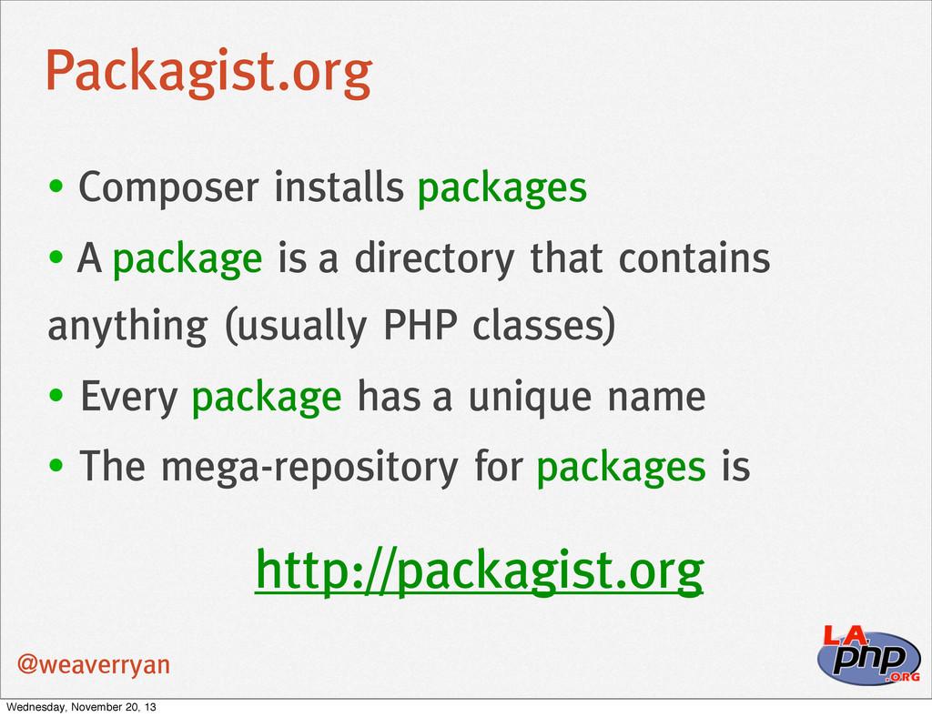 Packagist.org @weaverryan • Composer installs p...