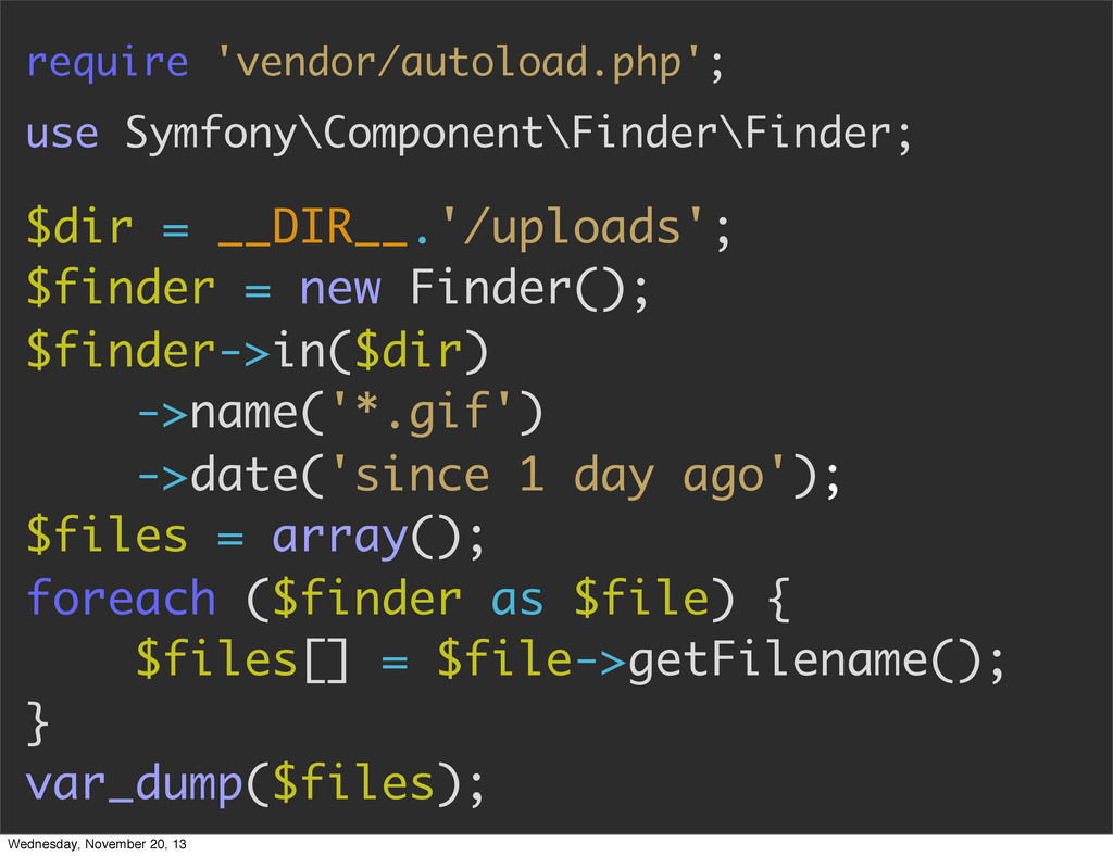 require 'vendor/autoload.php'; use Symfony\Comp...