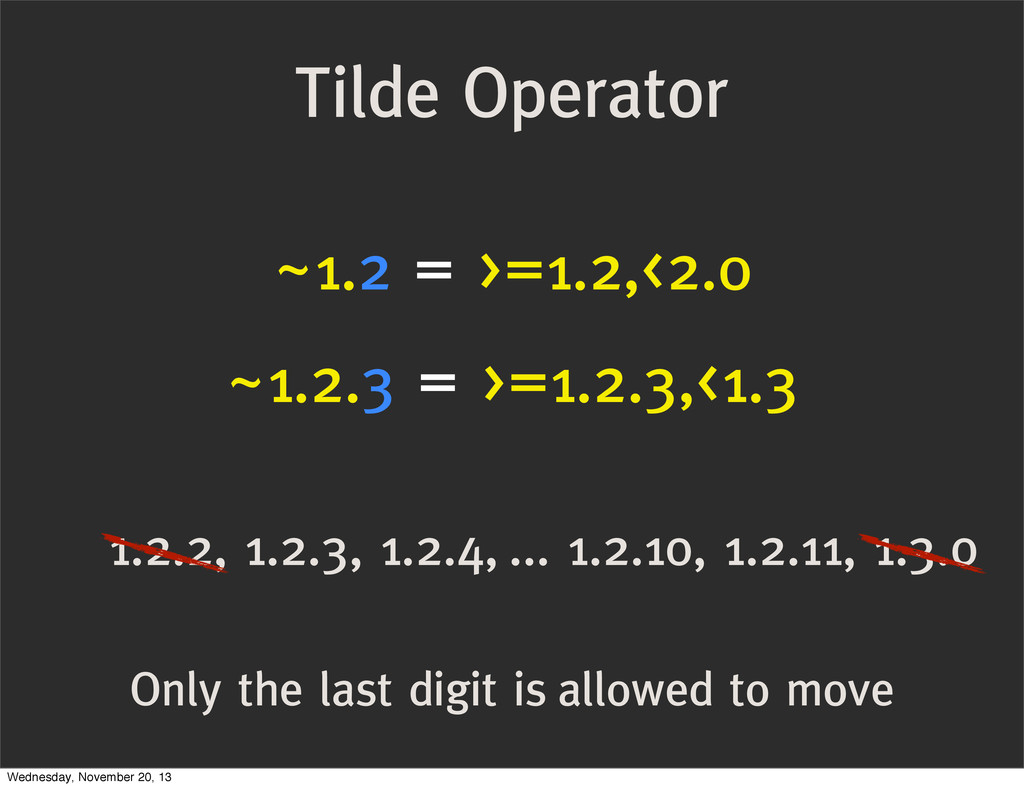 Only the last digit is allowed to move Tilde Op...