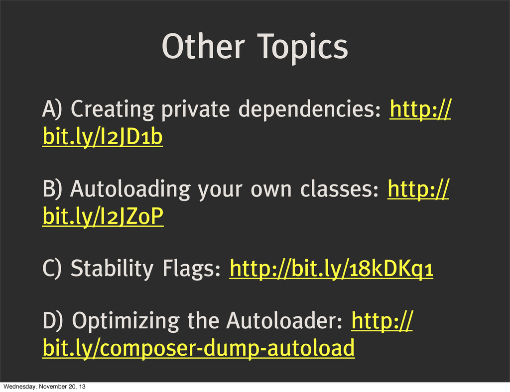A) Creating private dependencies: http:// bit.l...