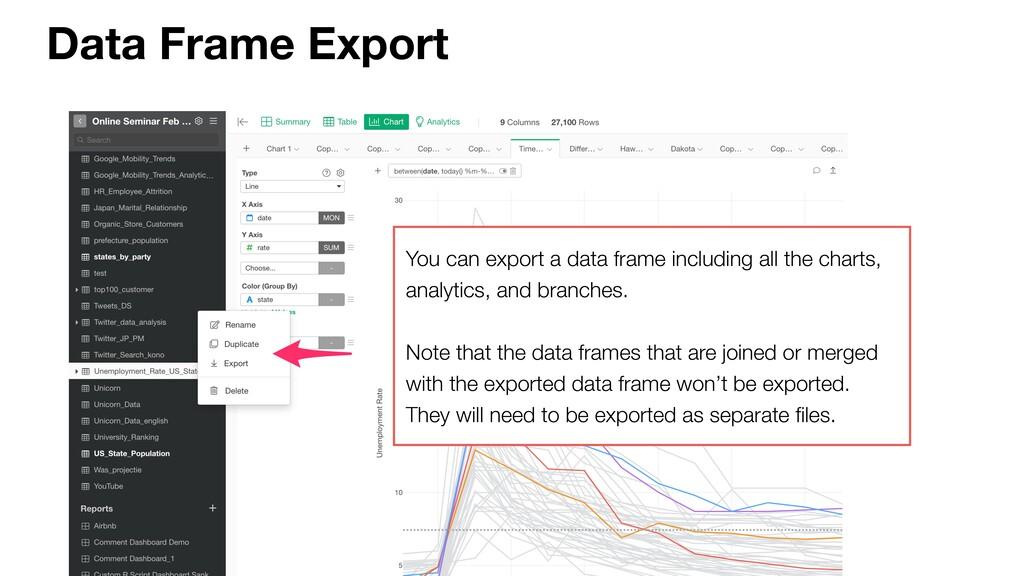 Data Frame Export You can export a data frame i...