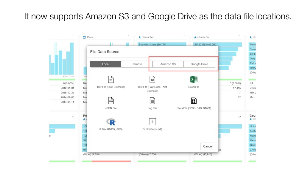 It now supports Amazon S3 and Google Drive as t...