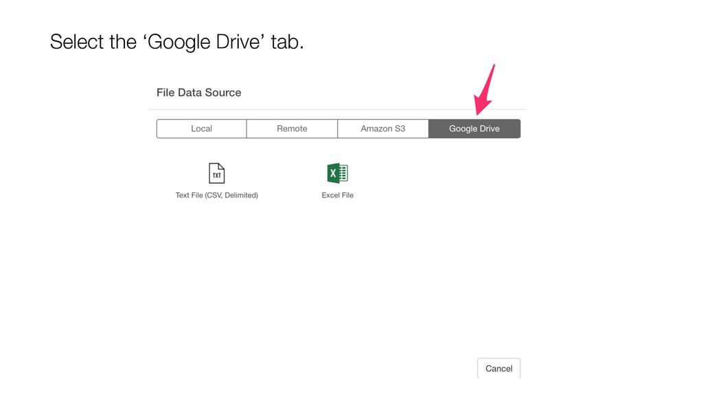 Select the 'Google Drive' tab.