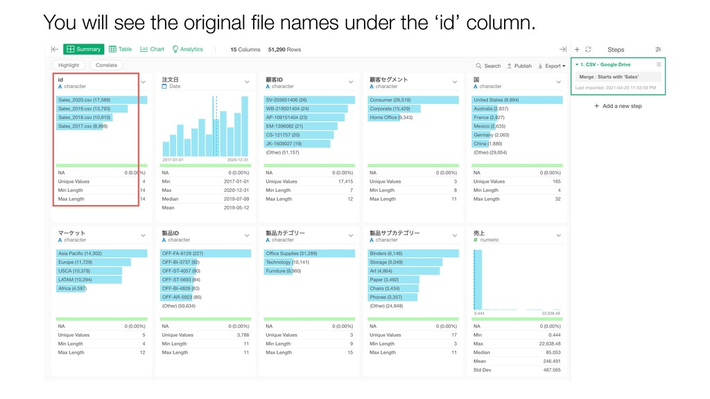 You will see the original file names under the '...