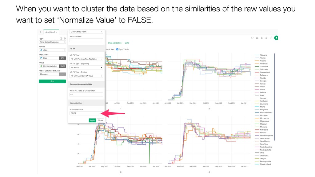 When you want to cluster the data based on the ...
