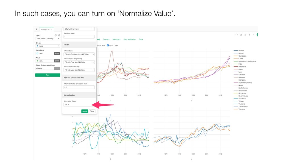 In such cases, you can turn on 'Normalize Value...