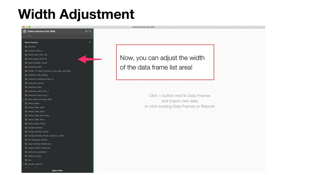 Width Adjustment Now, you can adjust the width ...
