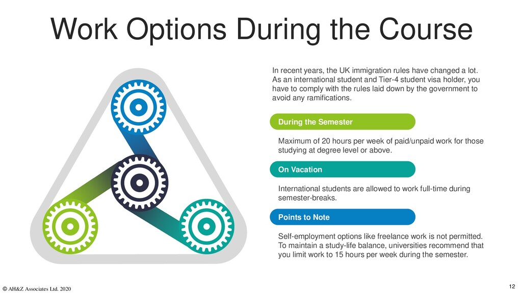 Work Options During the Course Maximum of 20 ho...
