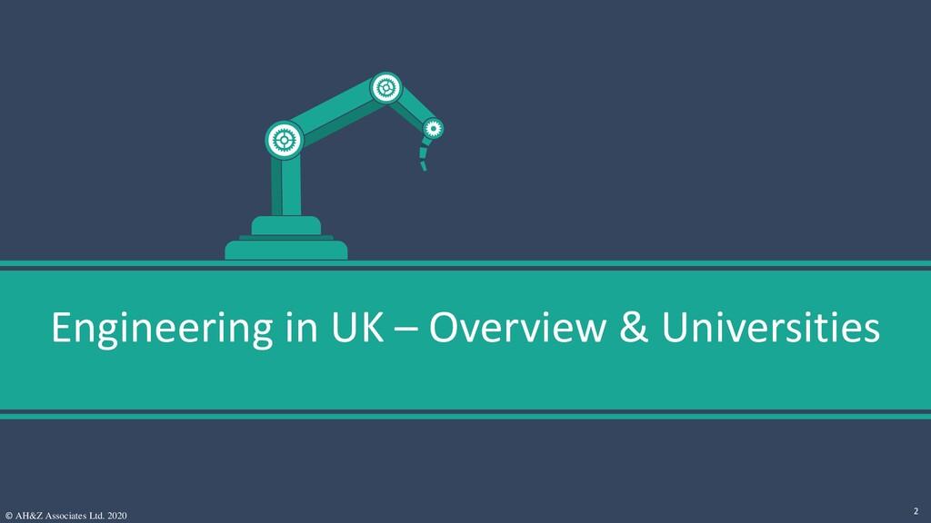 Engineering in UK – Overview & Universities © A...