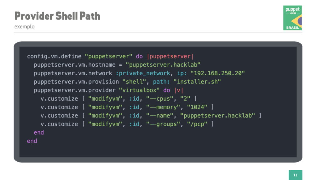 Provider Shell Path exemplo 11