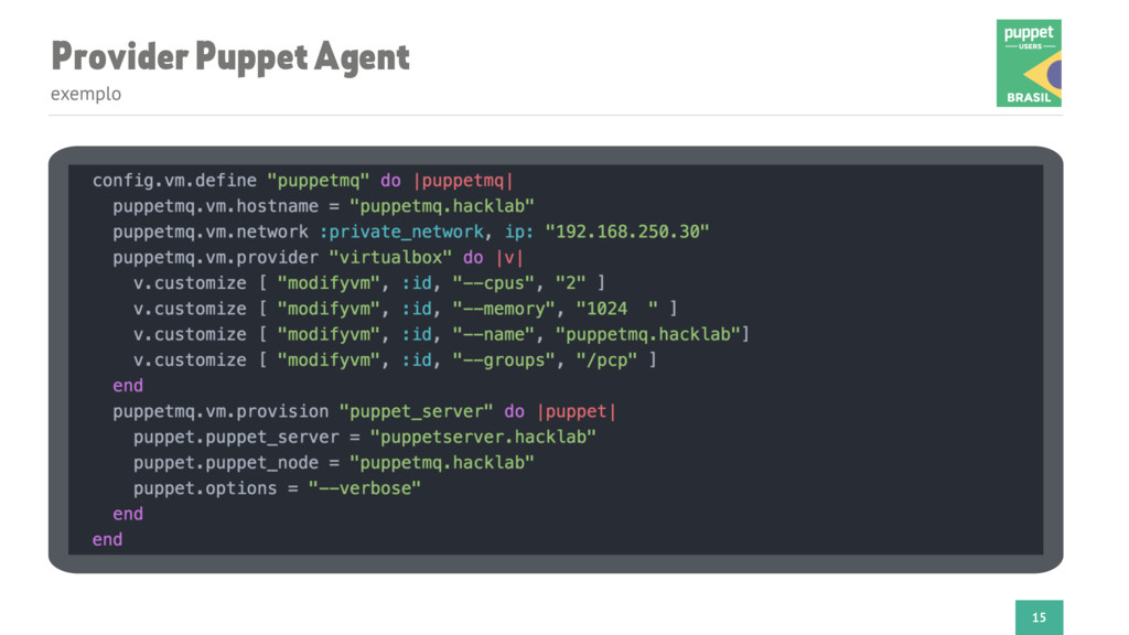 Provider Puppet Agent exemplo 15