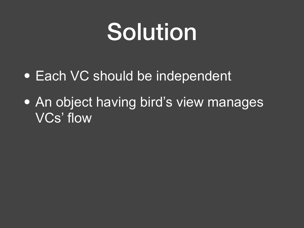 Solution • Each VC should be independent • An o...