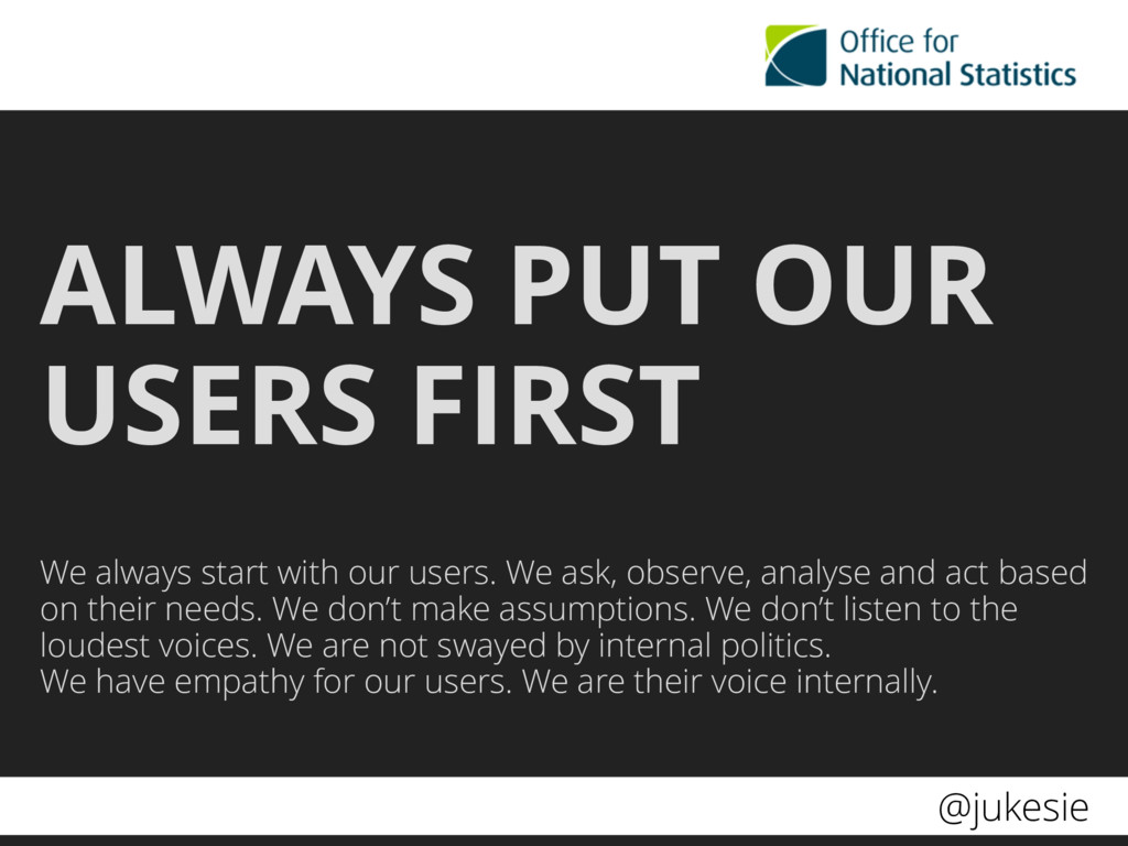 @jukesie ALWAYS PUT OUR USERS FIRST We always s...