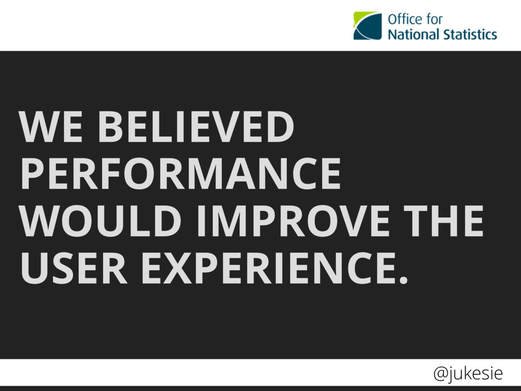 @jukesie WE BELIEVED PERFORMANCE WOULD IMPROVE ...