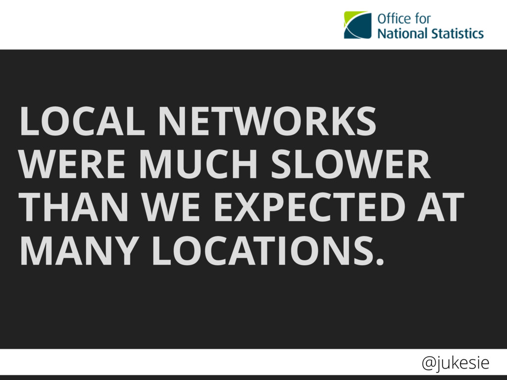 @jukesie LOCAL NETWORKS WERE MUCH SLOWER THAN W...