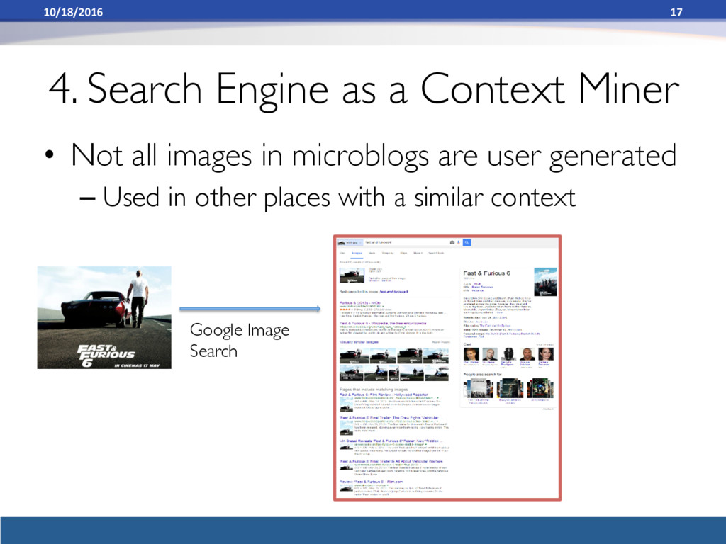 4. Search Engine as a Context Miner • Not all ...