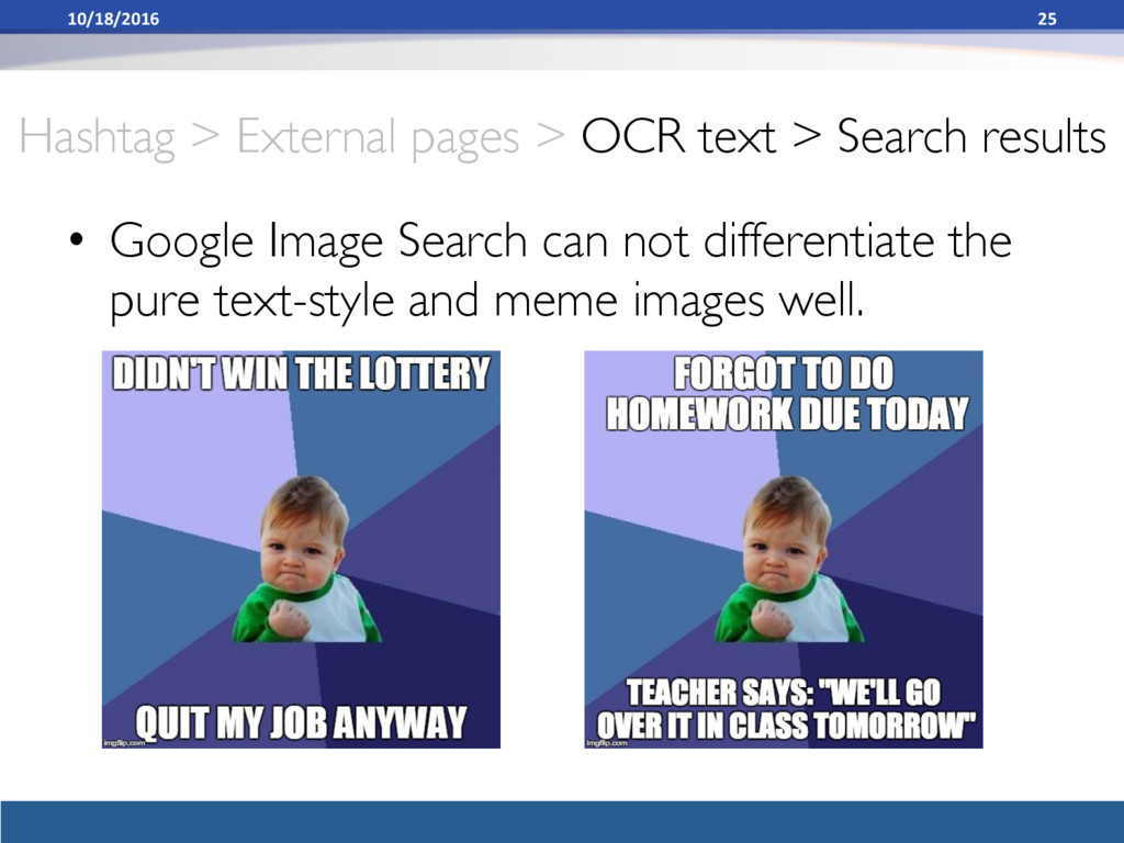 Hashtag > External pages > OCR text > Search re...