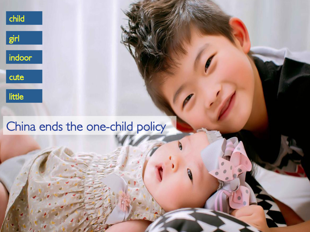 little cute child girl indoor China ends the on...