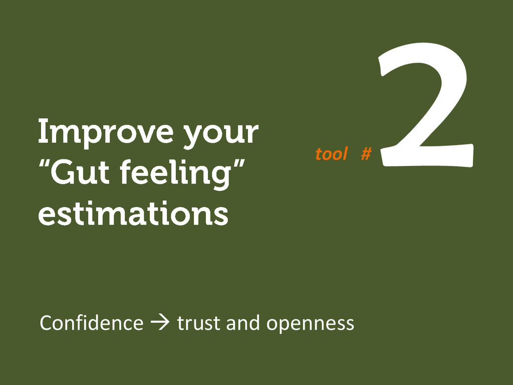 Confidence  trust and openness tool #