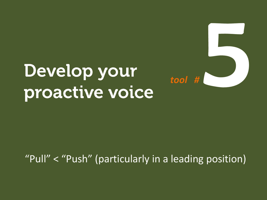 """Pull"" < ""Push"" (particularly in a leading posi..."