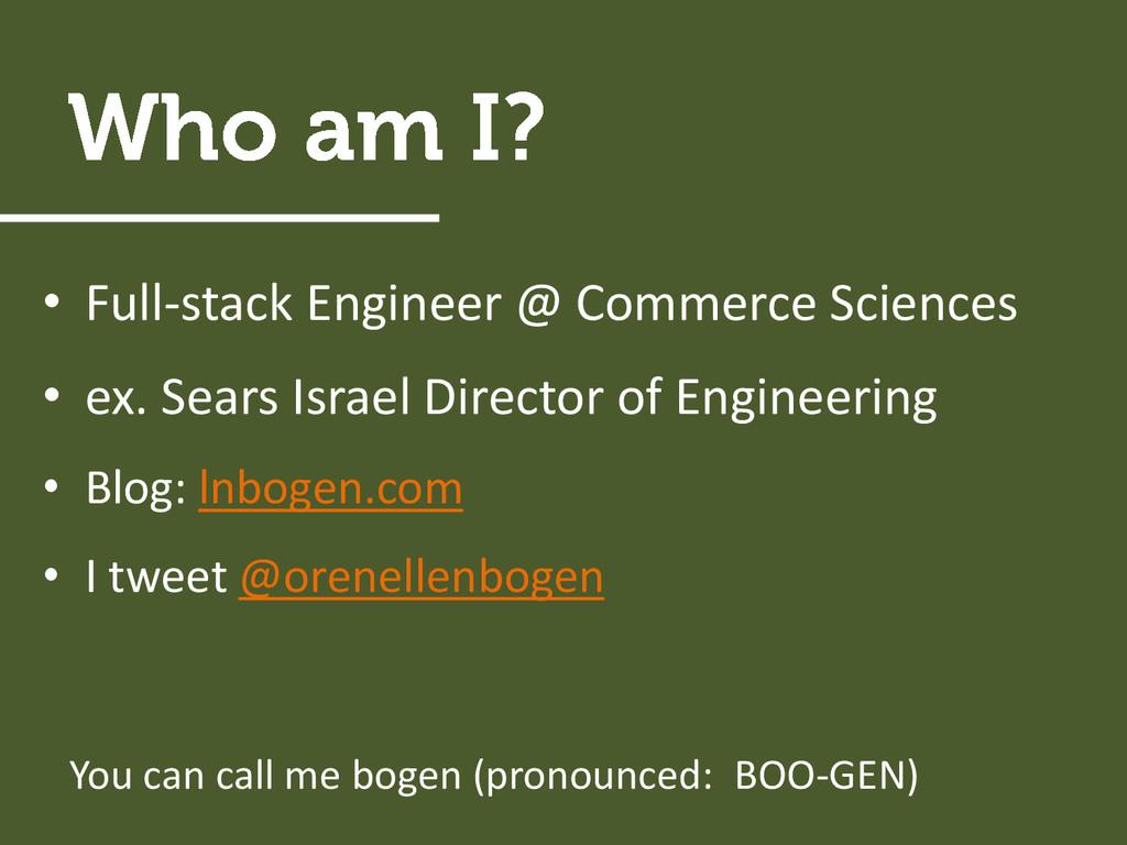 • Full-stack Engineer @ Commerce Sciences • ex....