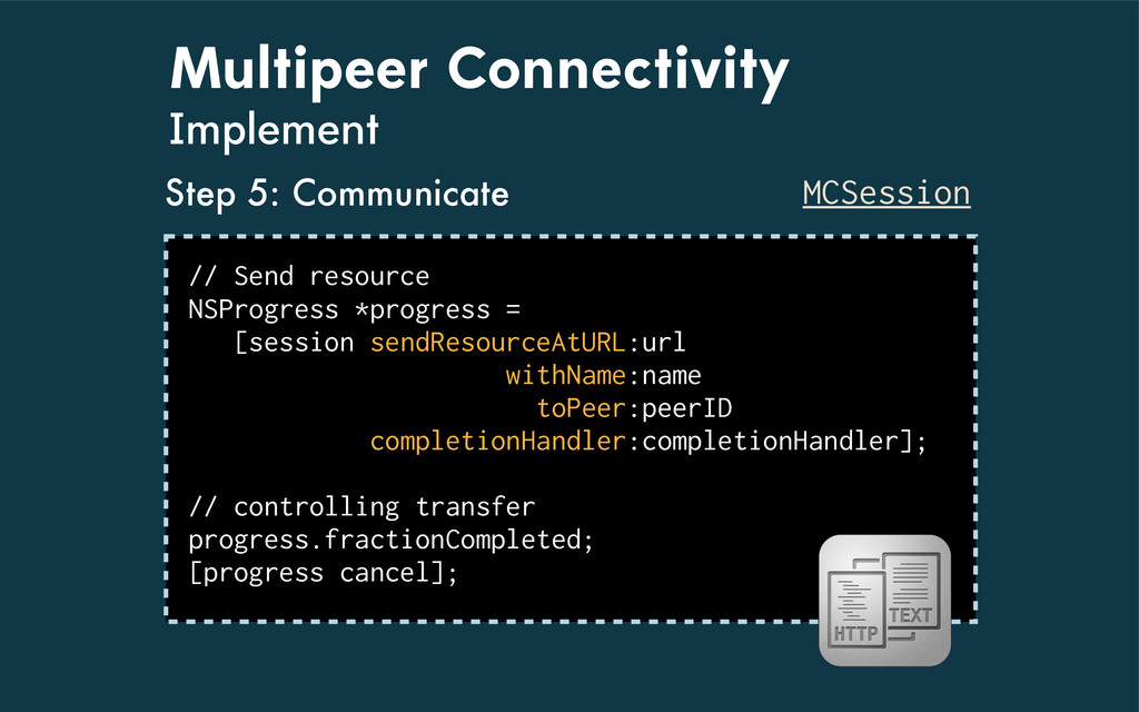 Multipeer Connectivity Implement MCSession // S...