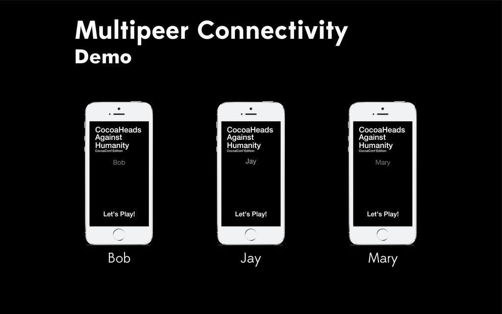 Multipeer Connectivity Demo Bob Mary Bob Mary J...