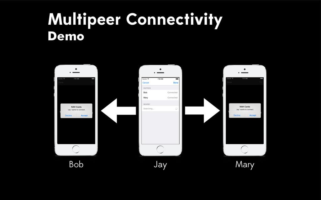 Multipeer Connectivity Demo Bob Mary Jay