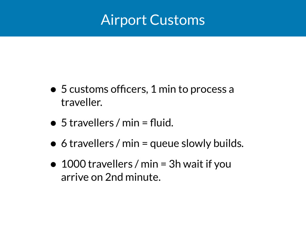 Airport Customs • 5 customs officers, 1 min to p...