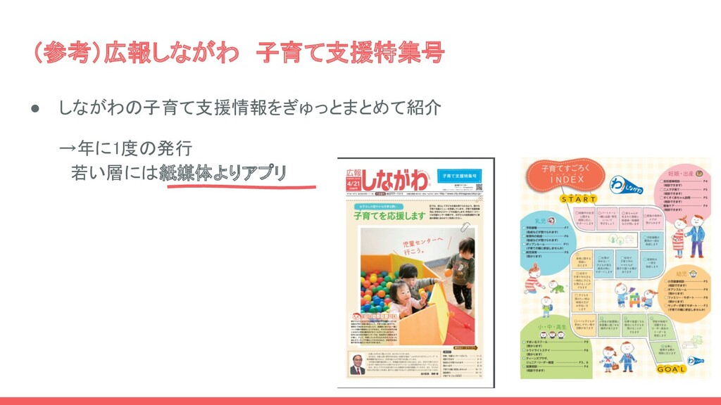 (参考)広報しながわ 子育て支援特集号 ● しながわの子育て支援情報をぎゅっとまとめて紹介...