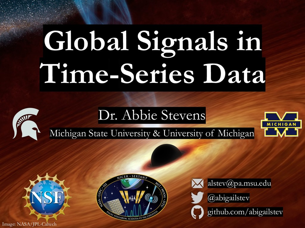 Global Signals in Time-Series Data Dr. Abbie St...