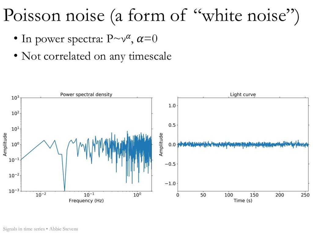 "Poisson noise (a form of ""white noise"") Signals..."