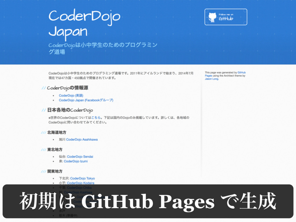 ॳظ͸ GitHub Pages Ͱੜ੒