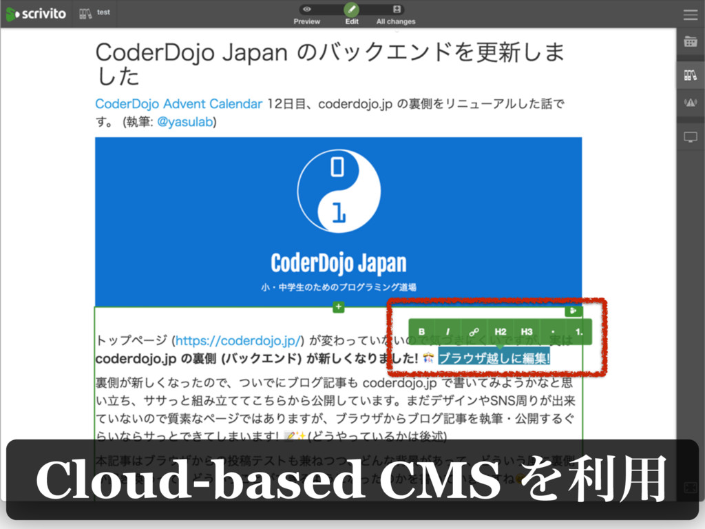 Cloud-based CMS Λར༻