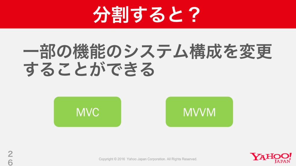 ׂ͢Δͱʁ Ұ෦ͷػͷγεςϜߏΛมߋ ͢Δ͜ͱ͕Ͱ͖Δ   MVC MVVM