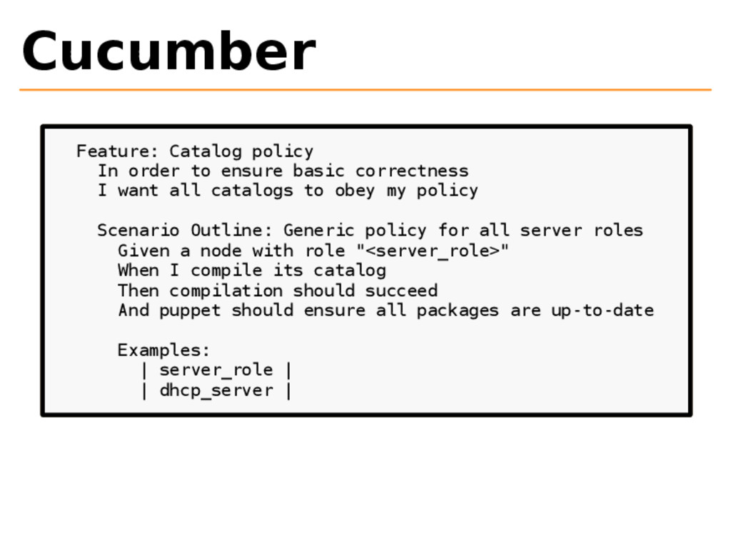 Cucumber Feature: Catalog policy In order to en...
