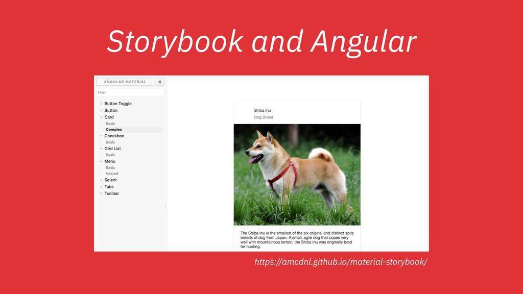 Storybook and Angular https://amcdnl.github.io/...