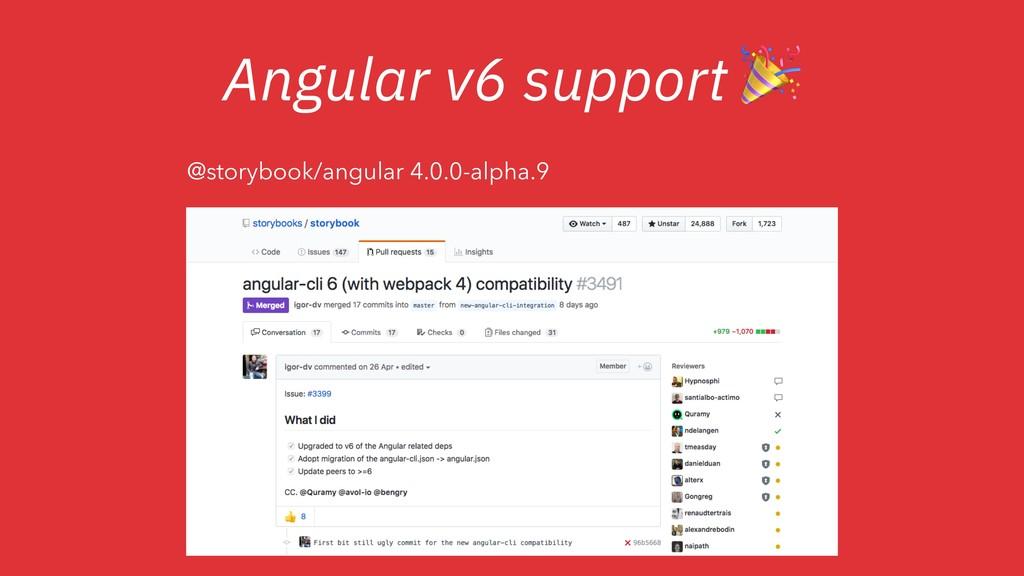 Angular v6 support  @storybook/angular 4.0.0-al...
