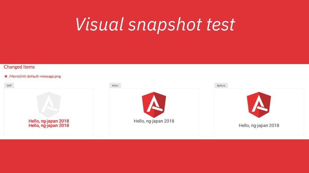 Visual snapshot test