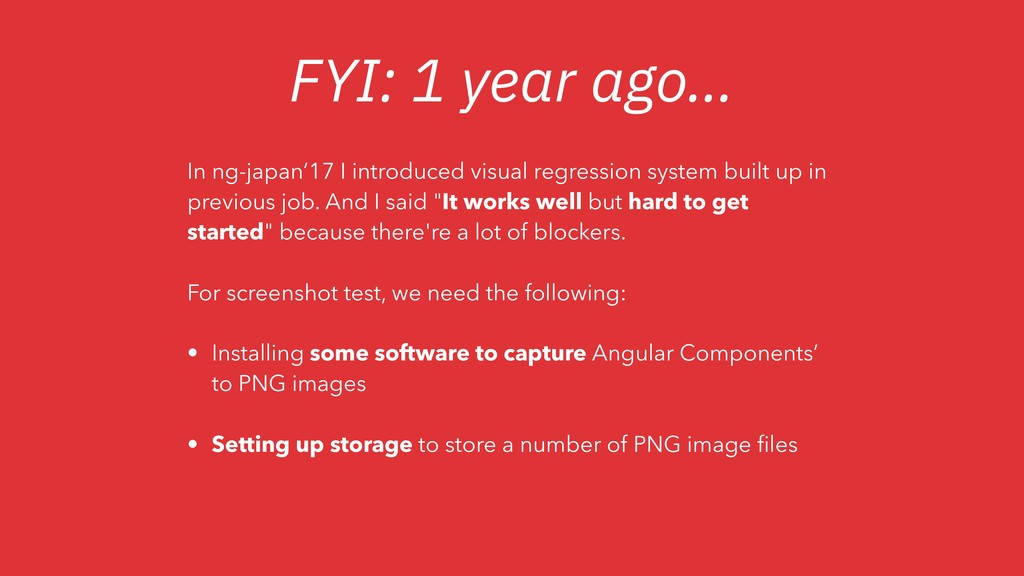 FYI: 1 year ago… In ng-japan'17 I introduced vi...
