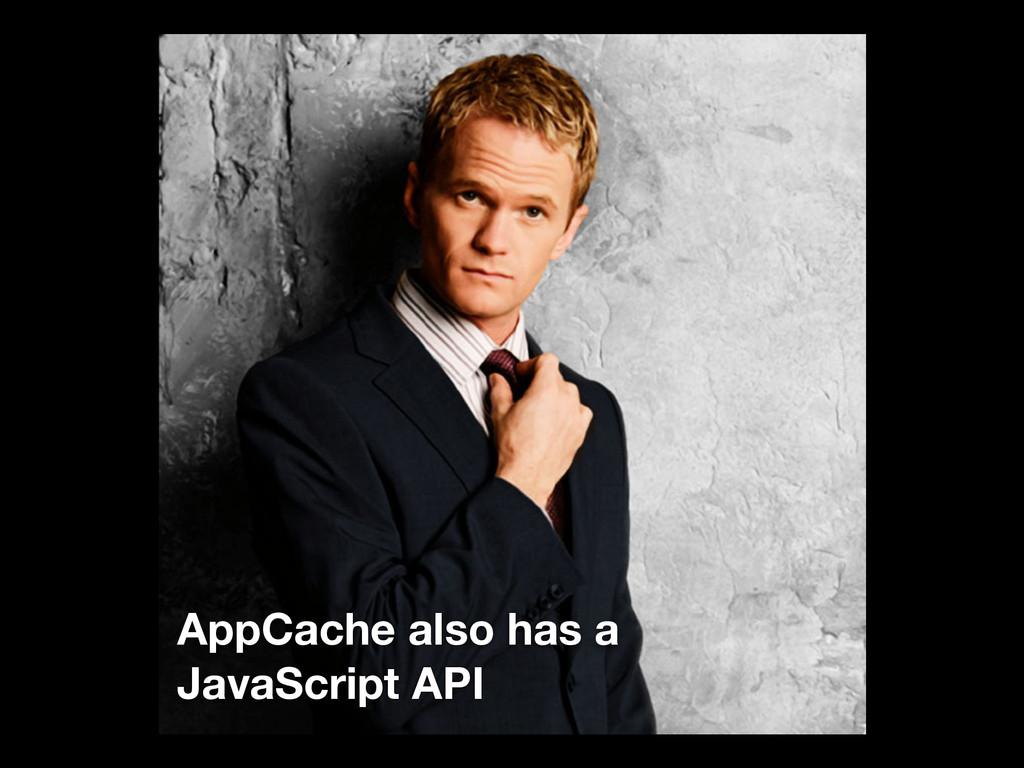 AppCache also has a JavaScript API