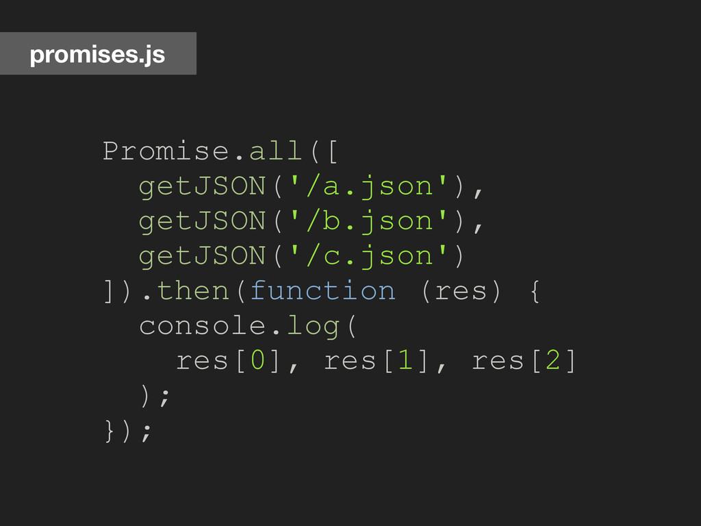 promises.js Promise.all([ getJSON('/a.json'), g...