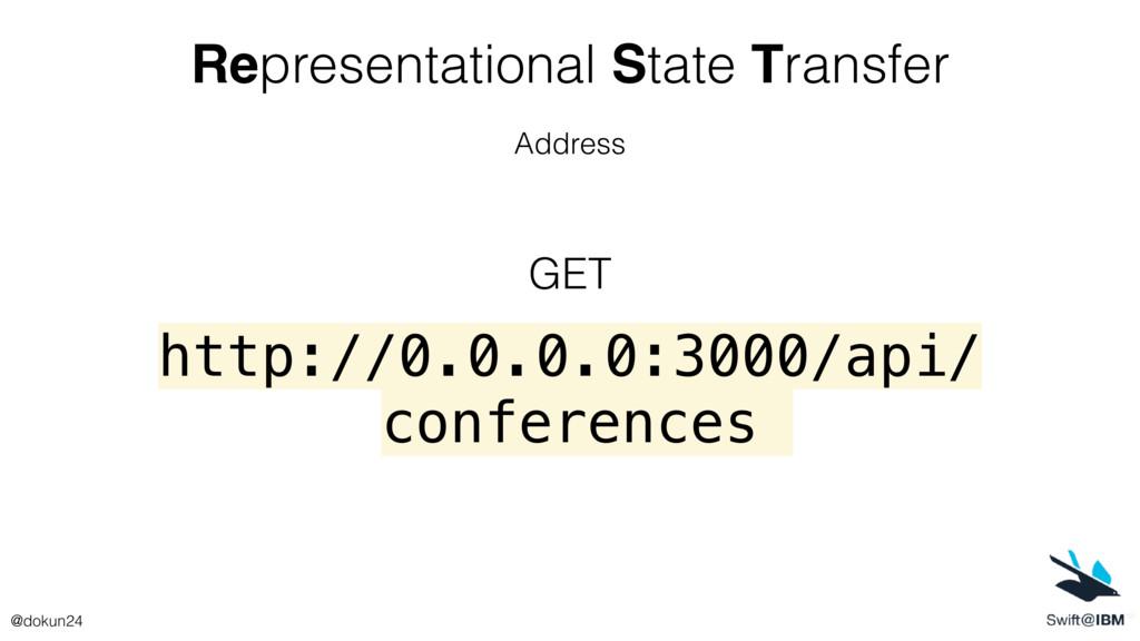 Representational State Transfer Address http://...