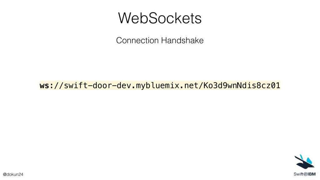 WebSockets Connection Handshake ws://swift-door...