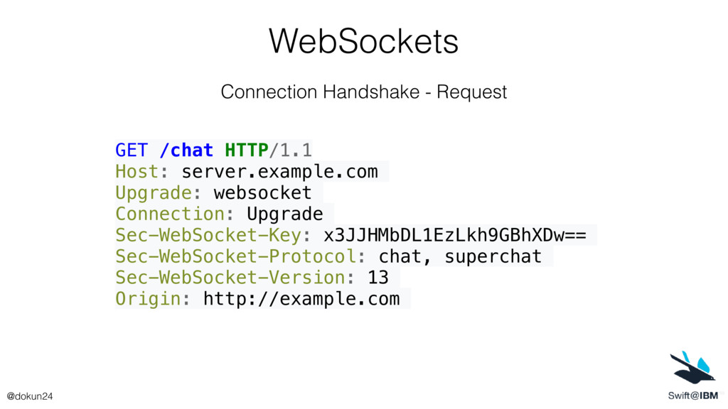 WebSockets Connection Handshake - Request GET /...