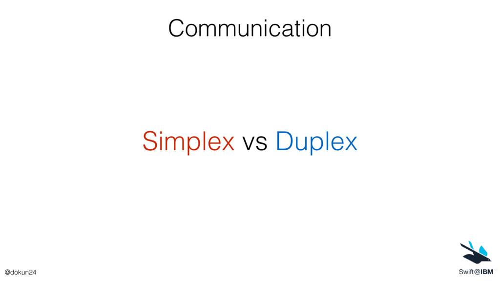 Communication Simplex vs Duplex @dokun24