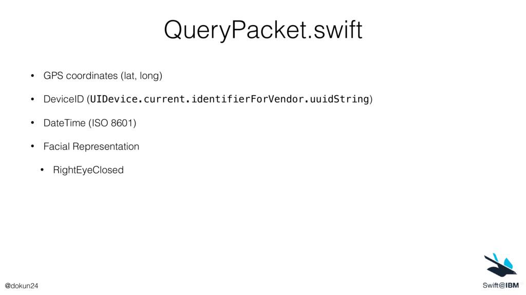 QueryPacket.swift • GPS coordinates (lat, long)...