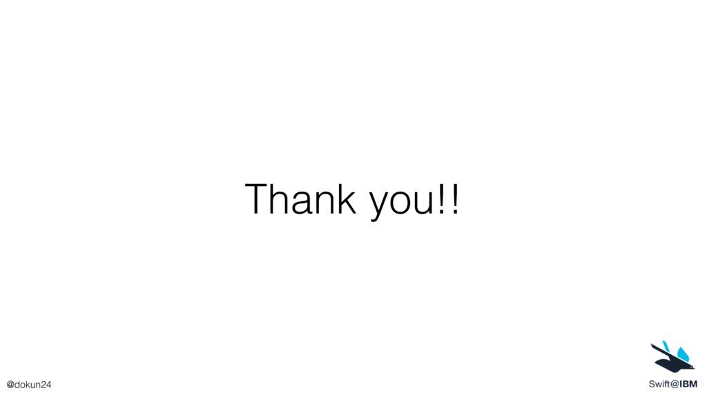Thank you!! @dokun24