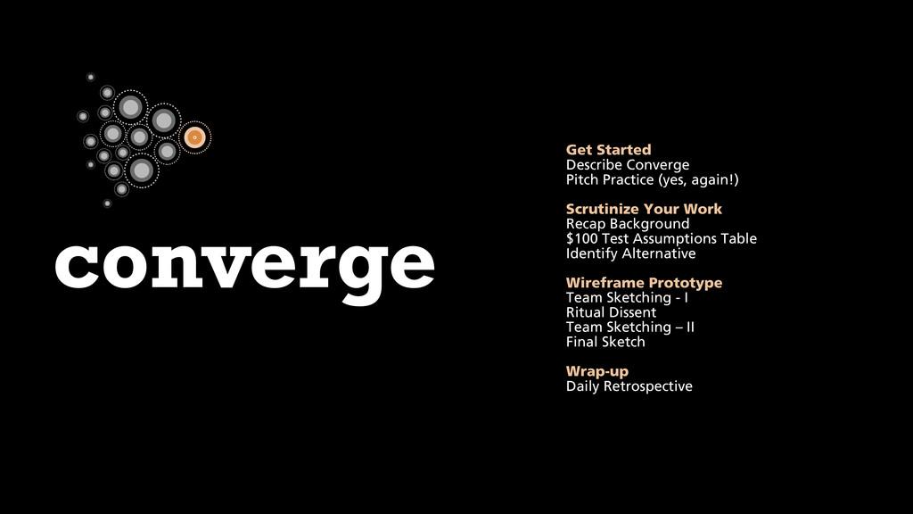 converge Get Started Describe Converge Pitch Pr...